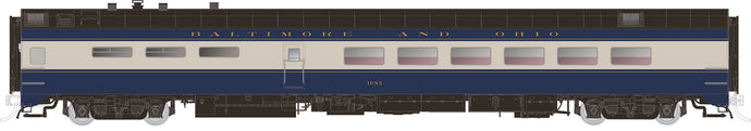 RAPIDO TRAINS #124018 - HO - Lightweight Diner - Baltimore & Ohio #2025 - [RESERVE for Delivery in July 2019] - [$0 to Reserve - $129.95 on Delivery]