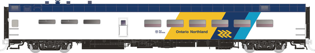 RAPIDO TRAINS #124049 - HO - PS Lightweight Dining Car - Ontario Northland #1407 [Chevron] - [RESERVE for Delivery in July 2019] - [$0 to Reserve - CAD $129.95 -15% on Delivery]