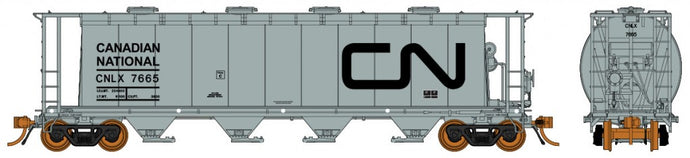 RAPIDO TRAINS #127003-6 - HO - 3800cf Cylindrical Hopper - Canadian National #7660 - [IN STOCK]
