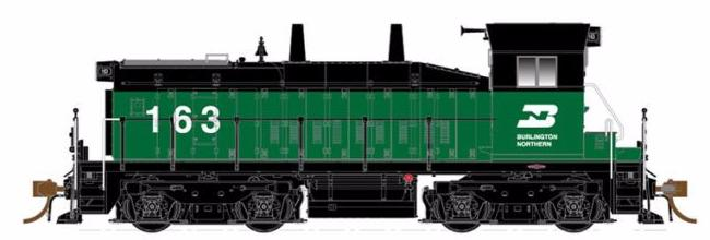 RAPIDO TRAINS #027004 - SW1200 - HO - Burlington Northern #163 - DCC-Ready - [RESERVE for Delivery in December 2019] - [$0 to Reserve - $249.95 on Delivery] [*** 19-041]