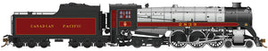 RAPIDO TRAINS #600506 - Royal Hudson - H1c Class - Canadian Pacific NO# - With DCC & Sound, Coal tender, Commonwealth trucks, Teardrop stack