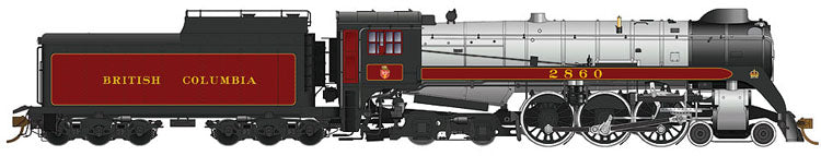 RAPIDO TRAINS #600591 - Royal Hudson - H1e Class - British Columbia Railway #2862860With DCC & Sound, Oil tender, Buckeye trucks, Bathtub stack - [RESERVE for Delivery in May 2019] - [$0 to Reserve - CAD $599.95 -15% on Delivery]