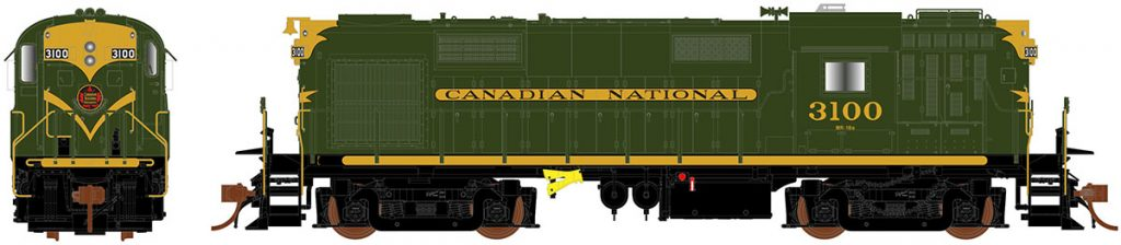 RAPIDO TRAINS #032001 - MLW RS-18 - MR-18e Class - HO - Canadian National #3100 - DCC-Ready - [CLICK on the picture for more information] - [RESERVE for Delivery in Mid-2019] - [$0 to Reserve -$249.95 on Delivery]