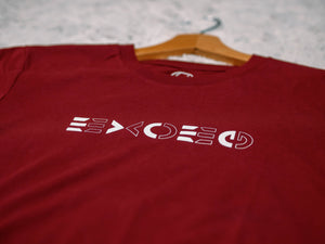 T-shirt Mirror Burgundy - Exoed Clothing