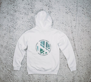 Hoodie Unicité White - Exoed Clothing