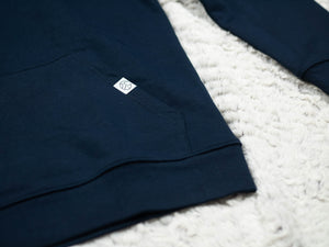 Hoodie Mirror Navy - Exoed Clothing