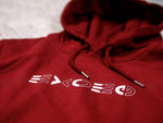 Hoodie Mirror Burgundy - Exoed Clothing