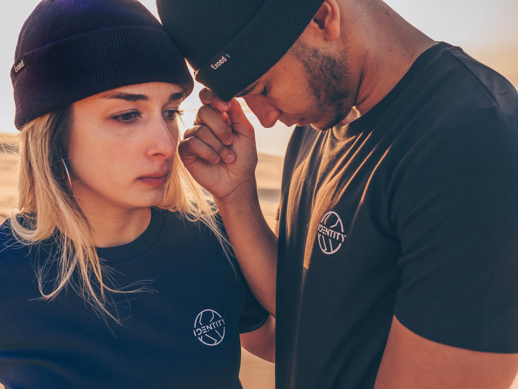 T-shirt Ipséité Navy - Exoed Clothing