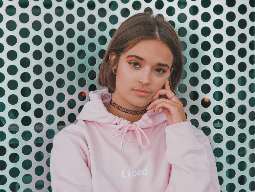 Hoodie Originel Cotton Pink - Exoed Clothing