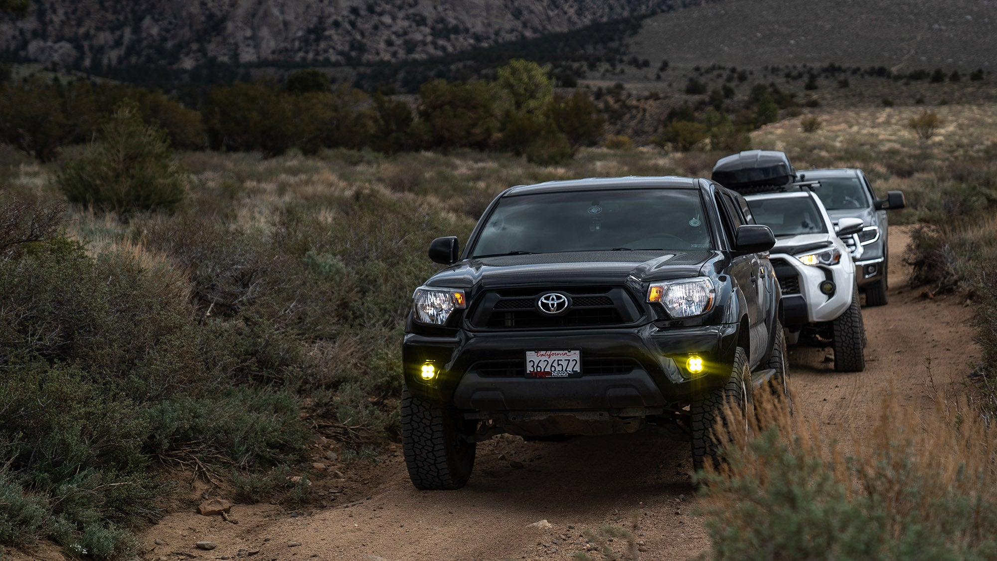 Tacoma 4Runner and Tundra off roading in the Eastern Sierra
