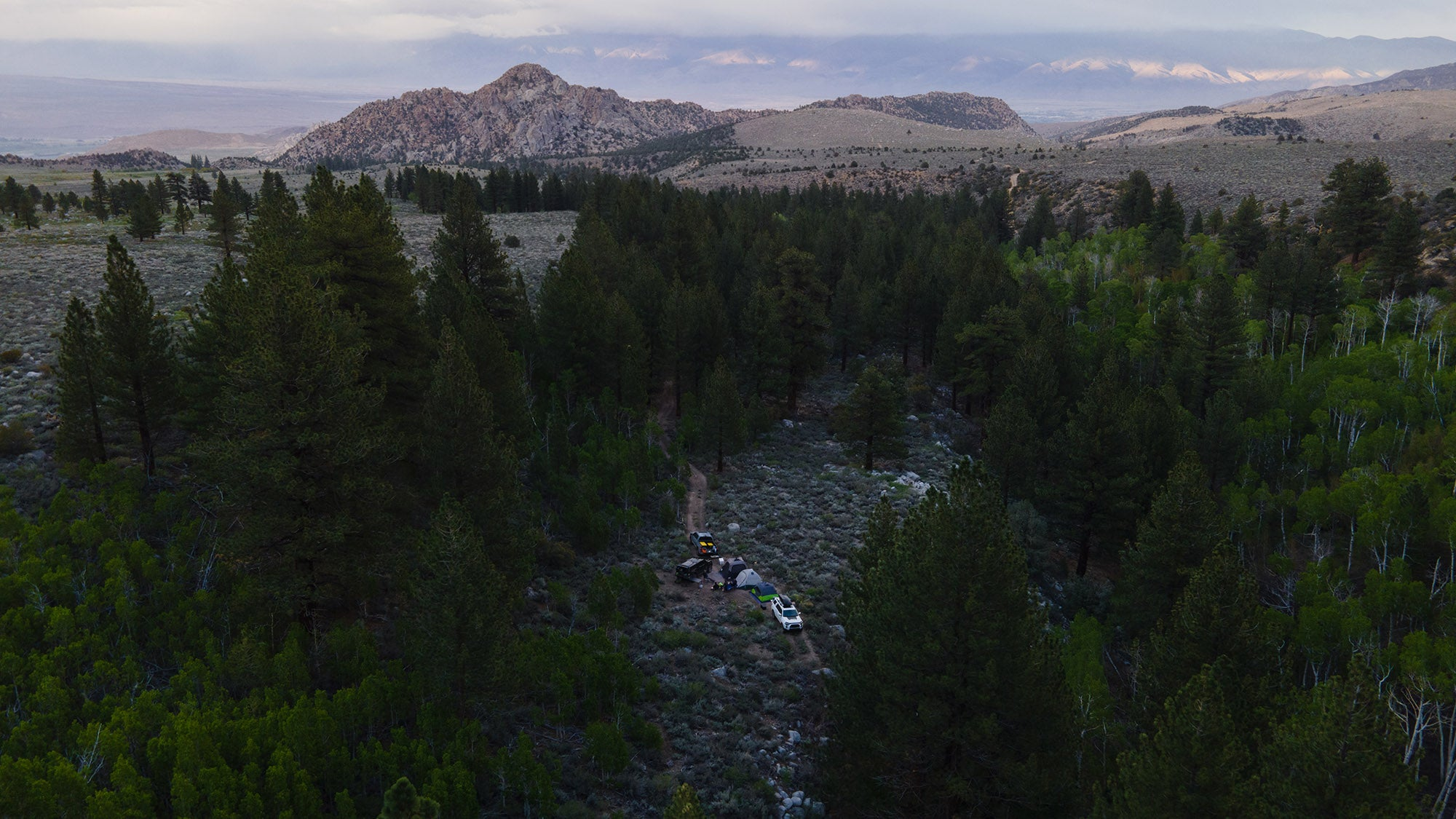 Our remote campsite in the Eastern Sierra Mountains