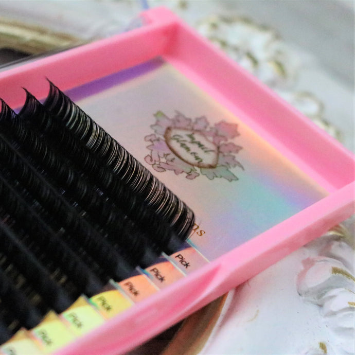 Matte Perfection Volume Eyelash Extensions - 0.07 Single Size Trays