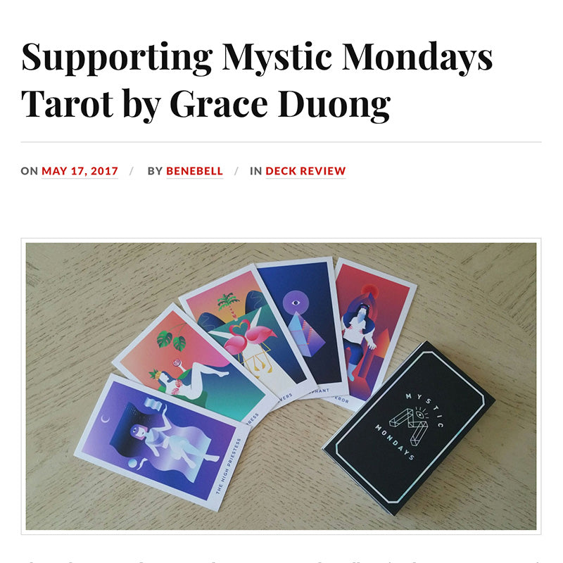 Supporting Mystic Mondays Tarot by Grace Duong