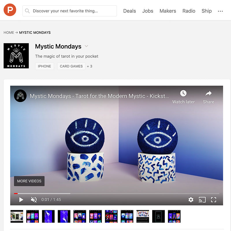 Product Hunt: Mystic Mondays