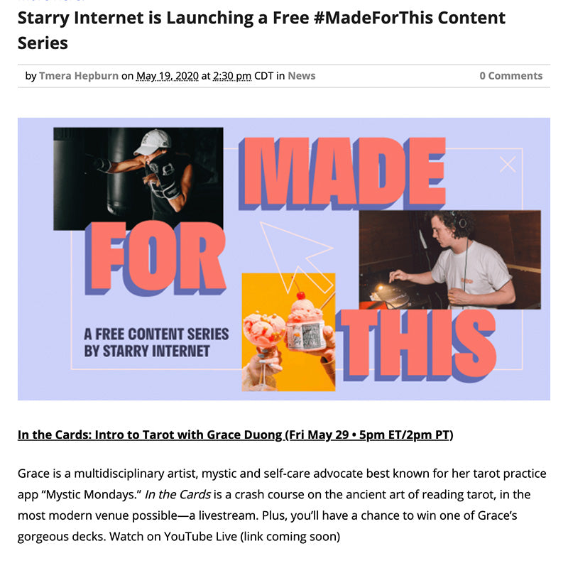 Starry Internet is Launching a Free #MadeForThis Content Series