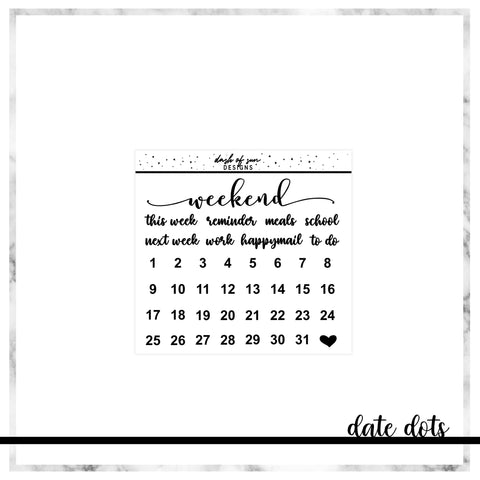 Date Dots | Foiled Sticker Kit Add On