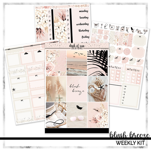 Blush Breeze | Foiled Weekly Kit