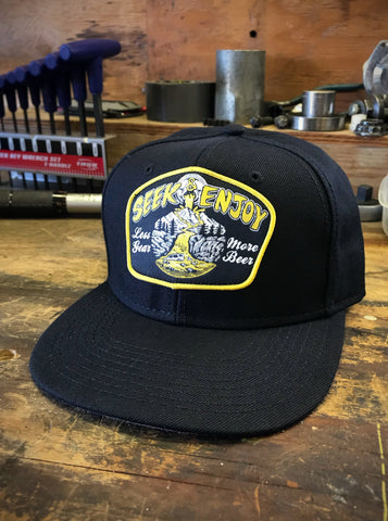 MORE BEER SNAPBACK | BLACK
