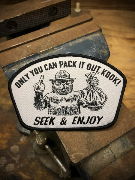 PACK IT KOOK VELCRO PATCH | BLACK