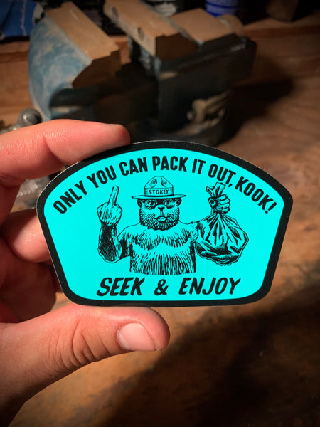 PACK IT OUT STICKER