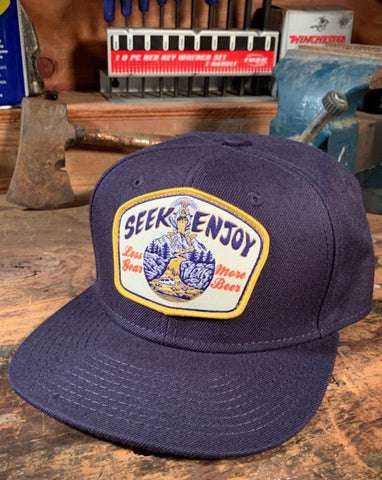 MORE BEER SNAPBACK | NAVY