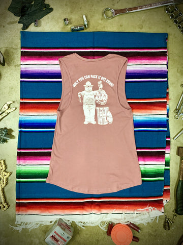 PACK IT OUT WOMENS TANK | MAUVE