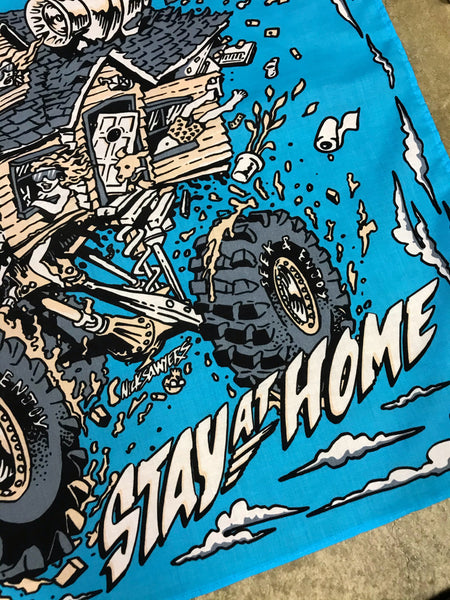 STAY HOME BANDANA | BLUE