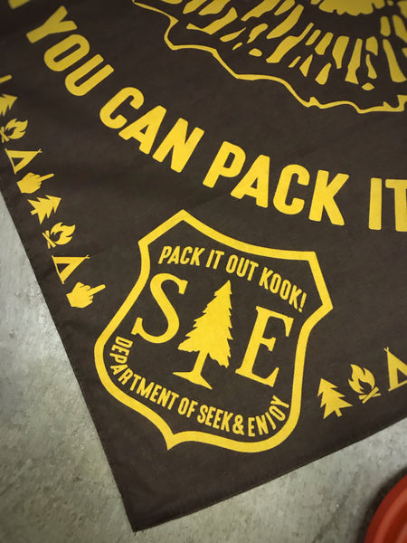 PACK IT OUT BANDANA | BROWN