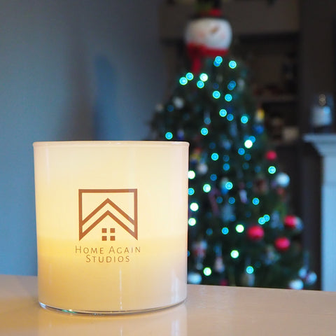 Candle with Christmas Tree
