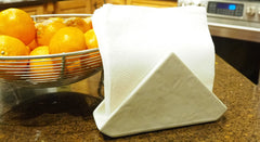 Concrete napkin holder