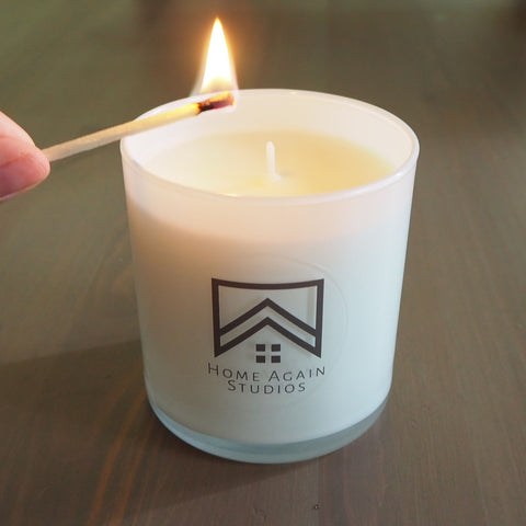 Lighting a candle to relax