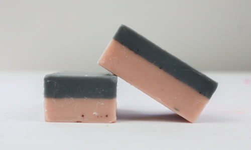 Pink Clay & Charcoal Goatsmilk Soap | Miss LA Soaps: handmade bar soap, handmade artisan soap, all natural bath products, high end bath body products