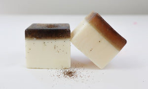 Coconut Scrub Bar | Miss LA Soaps: handmade bar soap, handmade artisan soap, all natural bath products, high end bath body products, Gold Coast, Australia.