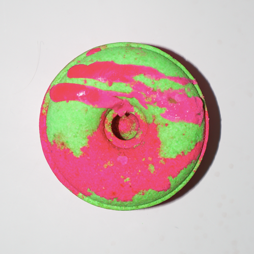 Donut - Bath Bomb (Watermelon) | Miss LA Soaps: natural bath bombs for kids, natural kids bath bombs, luxury bath body products, natural bath bombs kids, handmade soaps and bath bombs, Gold Coast, Australia.