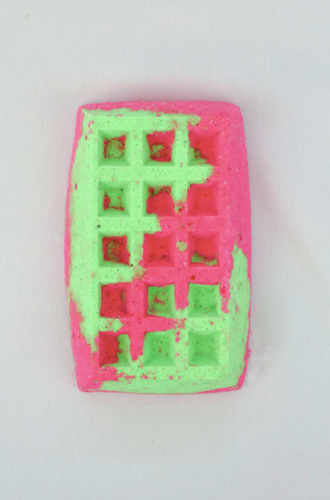 Waffle - Bath Bomb (watermelon) | Miss LA Soaps: natural bath bombs for kids, natural kids bath bombs, luxury bath body products, natural bath bombs kids, handmade soaps and bath bombs
