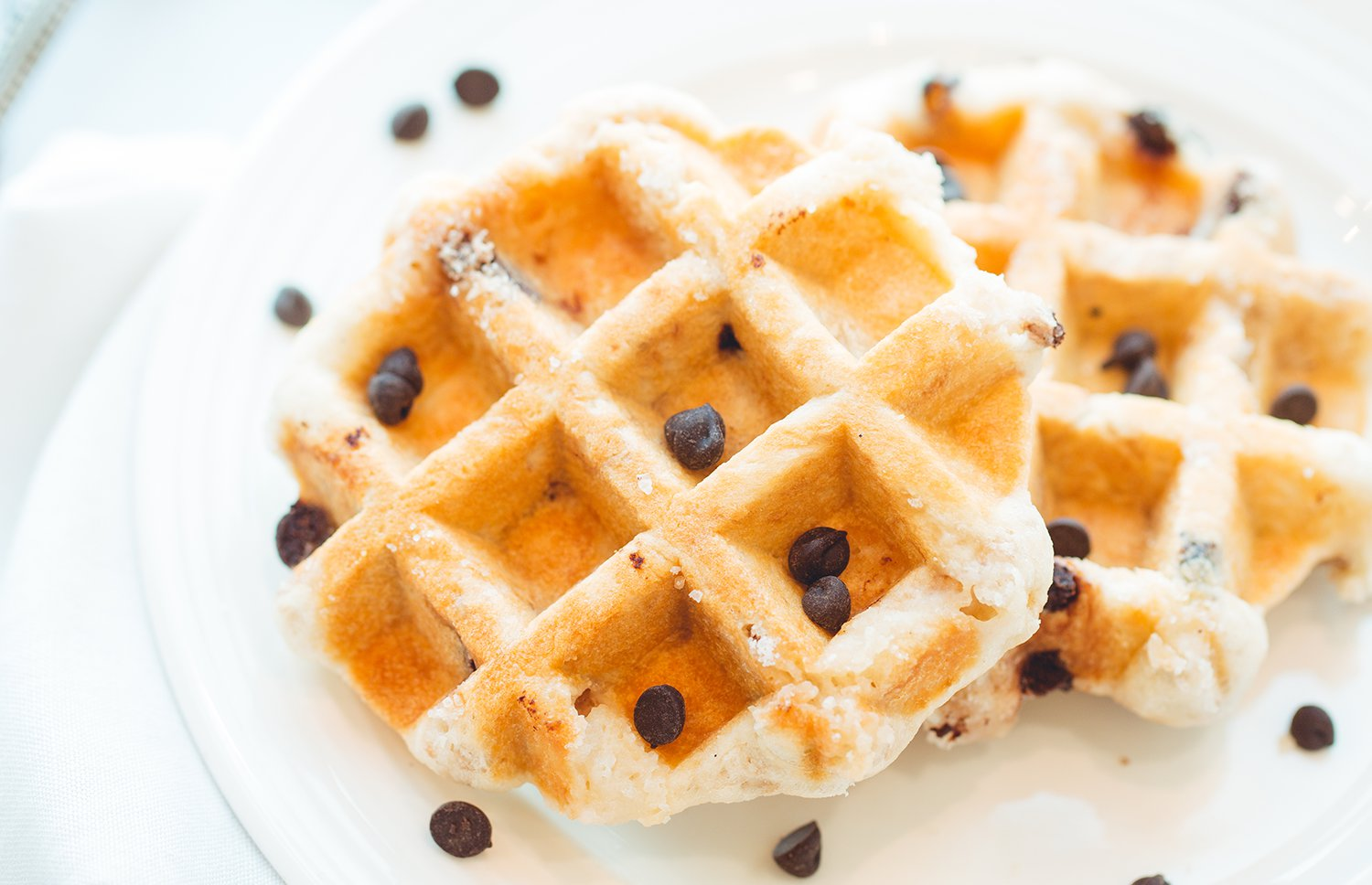 Choco Chip Waffles - Ready to Eat pack of 4