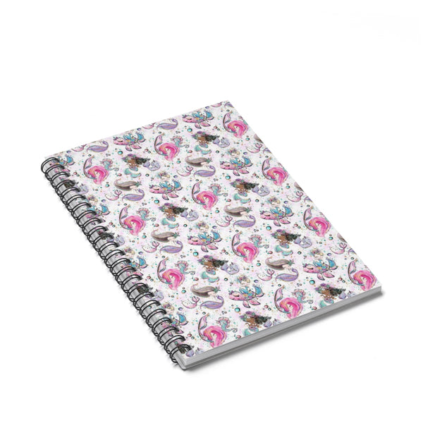 Under The Sea Mermaid Spiral Notebook - Ruled Line