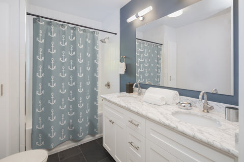 Anchor Shower Curtain - Mermaids and Minis