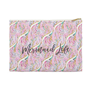 Mermaid Life - Pink Waves Accessory Pouch - Mermaids and Minis