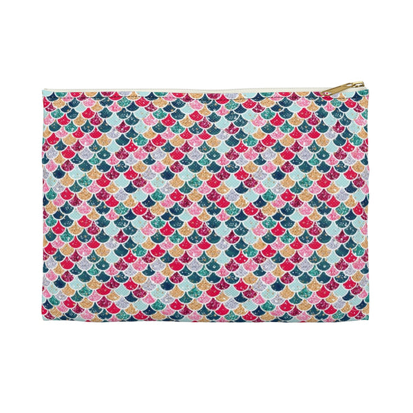 Holiday Mermaid Scale Accessory Pouch - Mermaids and Minis