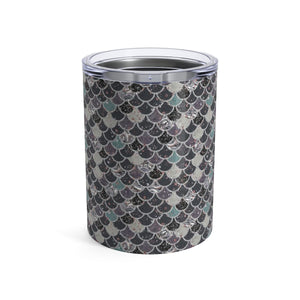 Dark Mermaid Scale Tumbler 10oz - Mermaids and Minis