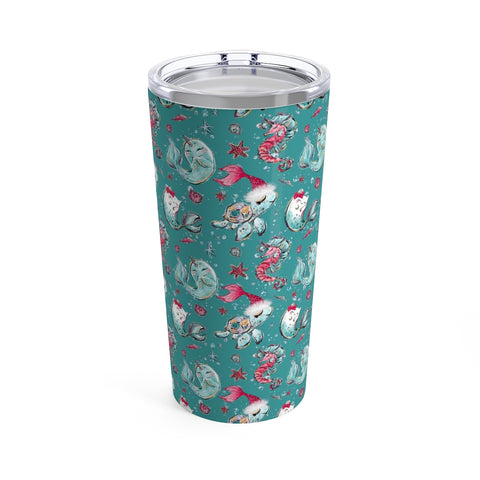 Sea Creature Holiday Tumbler 20oz - Mermaids and Minis