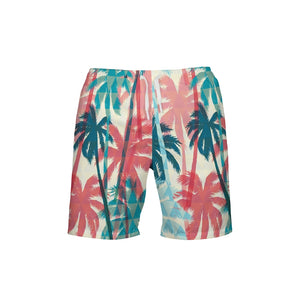 Palm Daze Men's Swim Trunk - Mermaids and Minis