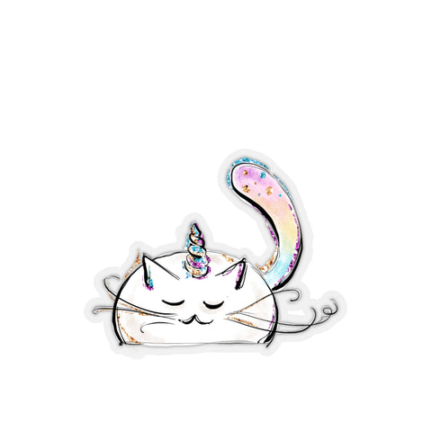 Kiss-Cut Unicorn Cat Sticker - Mermaids and Minis
