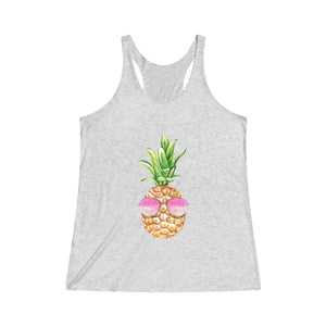 Sunglasses Pineapple Tri-Blend Racerback Tank - Mermaids and Minis
