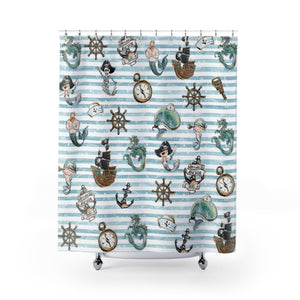 Merboy Shower Curtains - Mermaids and Minis