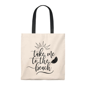 Take me to the BEACH Vintage Tote Bag - Mermaids and Minis