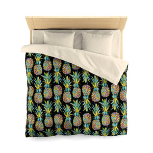 Colorful Pineapple Microfiber Duvet Cover - Mermaids and Minis