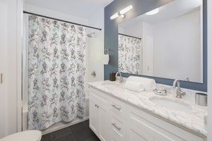 Whimsy, lets be Unicorns Shower Curtains