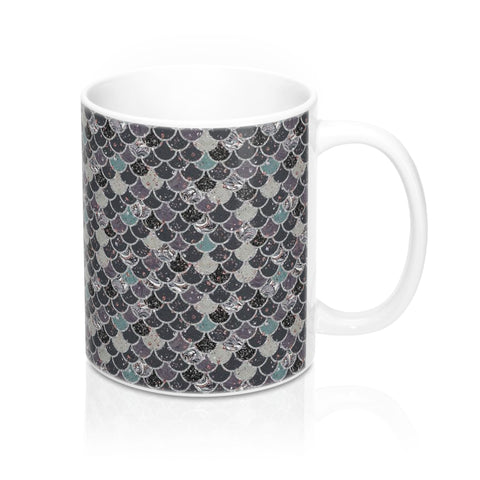 Dark Mermaid Scale Mug 11oz - Mermaids and Minis
